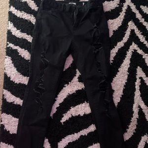 Black High rise skinny jeans size 7